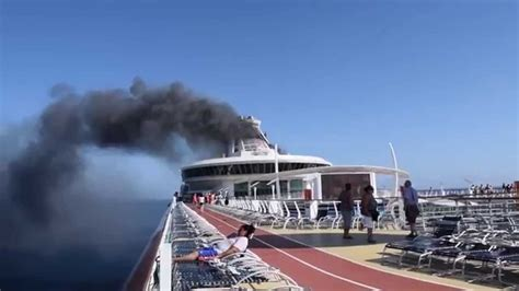 Royal Carbibean Freedom of the Seas Fire - YouTube