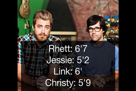 The heights of Rhett, Link, and their wives
