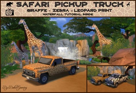 Safari Pickup Truck by Bakie at Mod The Sims » Sims 4 Updates
