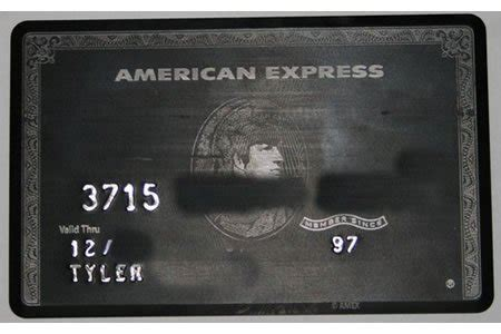 The Black Centurion card from American Express