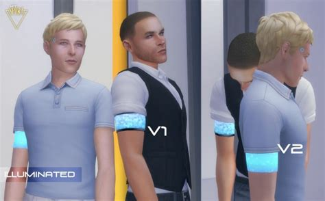 Mod The Sims: Glowing Android Armband by LadySpira • Sims