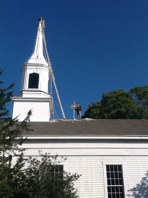 Steeple and Cross Repair Completed | The Chilmark