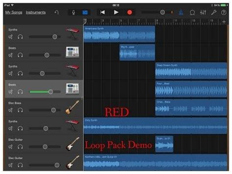 GarageBand RED Loop Pack Preview Special for iPad