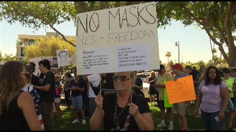 'Anti-mask' rally to protest mask mandate held in