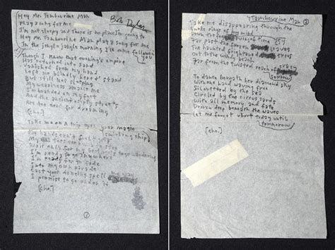 Bob Dylan: what can we learn from his handwriting? | Music