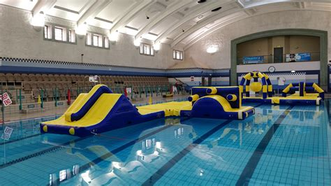 Amazing new inflatable assault course at Queen's Leisure
