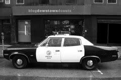 Adam 12, | Restored/maintained squad car in front of