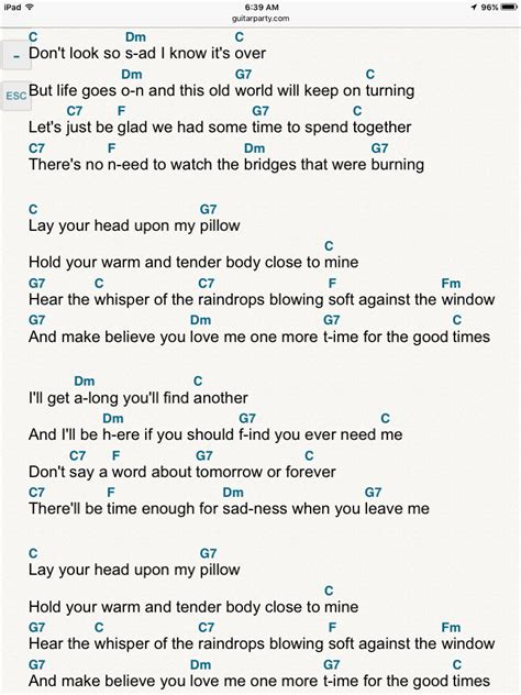 """Ray Price's """"For the Good Times"""" 