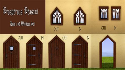 Mod The Sims - Prosperous Peasant Medieval Door and Window