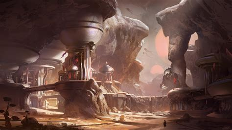 First piece of Halo 5: Guardians concept art shows outpost