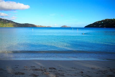 Starting The Day With a Swim Along Magens Bay, St
