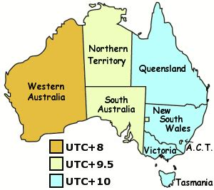 Time zone - Facts & figures - Travel Victoria