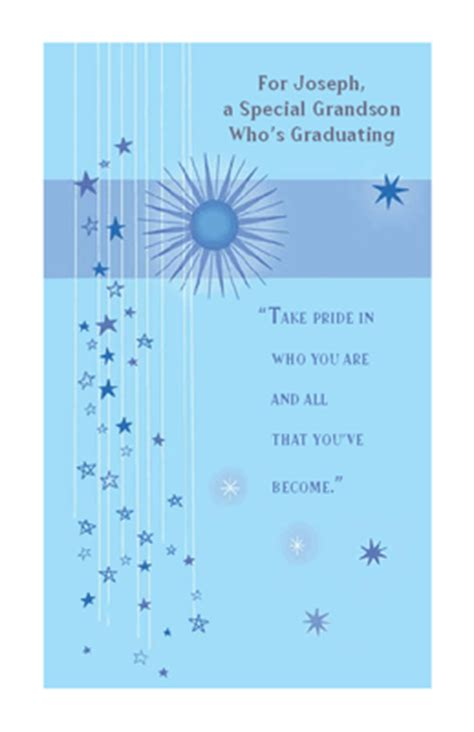 To a Special Grandson Greeting Card - Graduation Printable