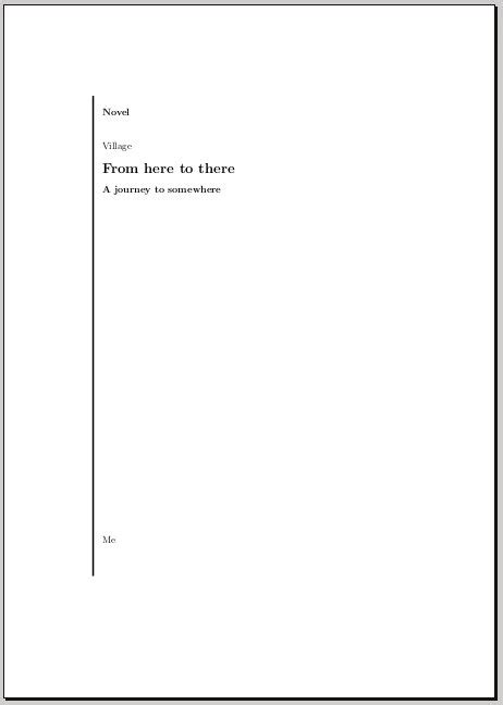 Resources for title page and front matter design - TeX