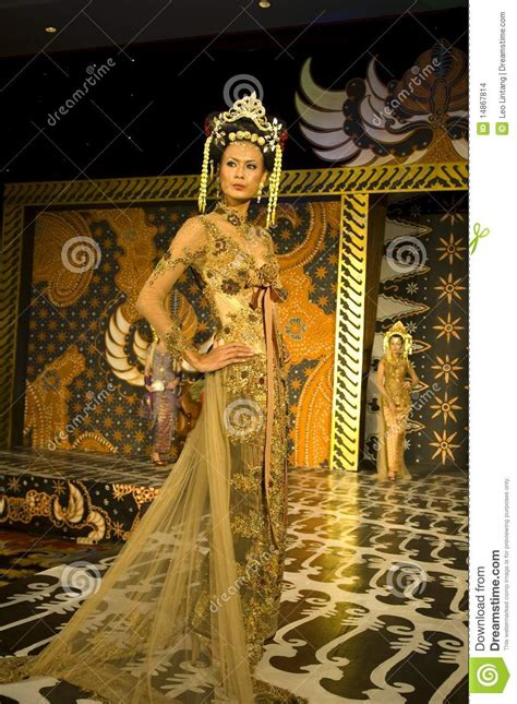 Indonesian Culture Fashion Show Editorial Stock Image
