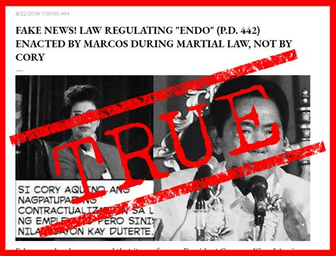 VERA FILES FACT CHECK: Marcos, not Cory, signed 'endo' law