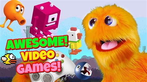 Let's Play Video Games w/ Fuzzy Puppet 🎮 Kid Gaming
