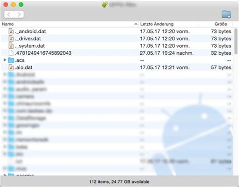 Wie kann man mit Android File Transfer Android Daten