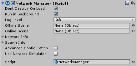 Using the Network Manager - Unity Manual
